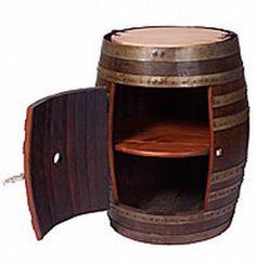 wine barrel cabinet love this!