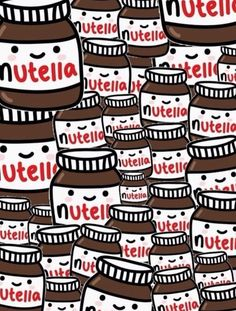 Nutella kawaii drawing