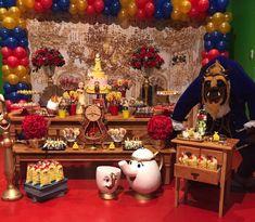 Hoje temos esta linda inspiração para Festa A Bela e a Fera. Decoração Nathália Ventrilho. Lindas ideias e muita inspiração! Bjs, Fabiola Teles. ...