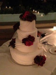 Wedding, White, Cake, Red