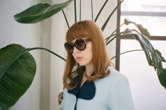 Hannah Metz in Zanzan 'Le Tabou' sunglasses ~ http://zanzan.co.uk/products/le-tabou-1 photo by Kristin Gallegos http://www.kristingallegosphoto.com/