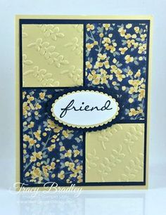 Homemade Birthday Cards, Homemade Cards, Hand Stamped Cards, Friendship Cards, Stamping Up Cards, Card Patterns, Cards For Friends, Card Sketches, Paper Cards