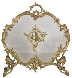 Gilt Brass Rococo Fire Screen : Lot 357