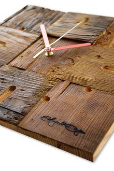Zegar drewniany (Wooden Diamonds clock)
