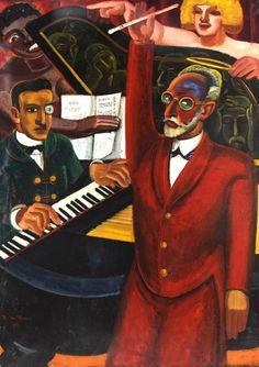 Prosper De Troyer (Belgian, 1880-1961) - Erik Satie (Le prélude), 1925.