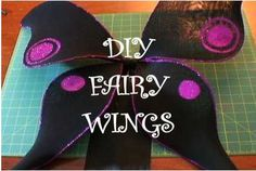 Wearable fairy wings. That's what little people need, and I could use a pair as well. This Halloween How-To is very helpful.