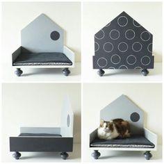 Cuccia di design in legno per gatti e cani di labottegadigiorgix Shih Tzu, Yorkshire, Chihuahua, Toddler Bed, Etsy, Design, Home Decor, Child Bed, Decoration Home