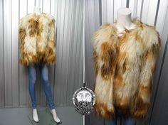 Vintage 90s Super Shaggy Jacket Faux Fur Yeti by ZeusVintage