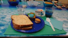 Sandwiches made with your choice of bread, kale, turkey, cream cheese and berry jam. YUM! #bookit #books #kidslit #reading #party