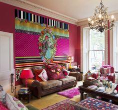 melli mello mural. #behang van Melli Mello. #color #kleur