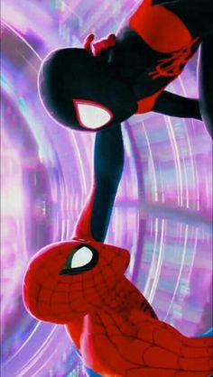 spiderman and miles morales Marvel Comics, Comics Spiderman, Spiderman Movie, Amazing Spiderman, Marvel Art, Miles Morales Spiderman, Spider Gwen, Spideypool, Marvel Wallpaper