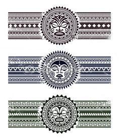Polynesian pattern bracelets — Stock Illustration #35628453
