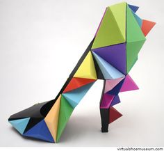 paper+origami+shoe+art.jpeg (500×460)