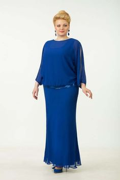 Evening and cocktail dresses for full women of the Belarusian company Tetra Bell. Mother Of Groom Dresses, Mothers Dresses, Elegant Dresses, Beautiful Dresses, Formal Dresses, Plus Size Dresses, Plus Size Outfits, Long Gown Design, Plus Size Girls