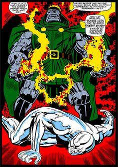 Doctor Doom vs The Silver Surfer - Jack Kirby