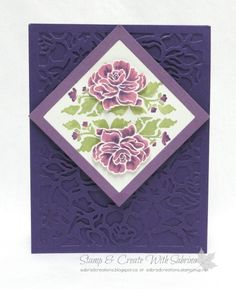 Floral Phrases & Detailed Floral Thinlits - Purples
