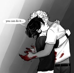 <What if a patient of wills just died or is dying and will is struggling to handle it and so nico is actually comforting him.