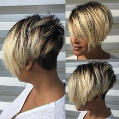 10 Bob Cuts to Rock this Season Bob cuts never go out of style and this season, they are definitely Short Sassy Hair, Short Hair Cuts, Short Hair Styles, Short Bob Cuts, Pixie Cuts, Short Black Hairstyles, Weave Hairstyles, Girl Hairstyles, Blonde Bob Haircut