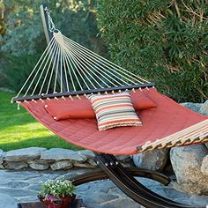 Island Bay Island Bay 13 ft Sienna Diamond Stitch Quilted Hammock Other Colors Polyester 2 Person <3 Click the VISIT button to enter the Amazon website