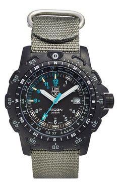 Luminox 'Land - Recon Point Man' Nylon Strap Watch, 45mm