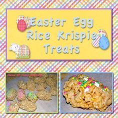 Super easy to make Easter rice krispie treat idea. Perfect for your Easter parties or snacks for kids.