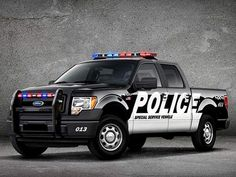 Ford is showing the police versions of its F-150 pickup