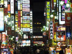 Night time in Shinjuku, Tokyo