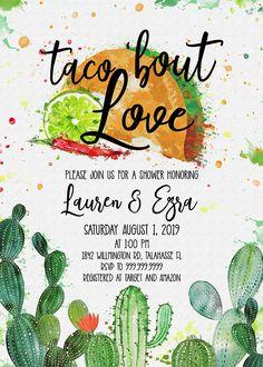 Fiesta Shower Invitation Cactus Taco Bout Love Baby Bridal