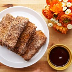 Crunchy Churro French Toast Sticks by Tasty