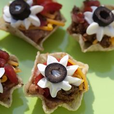 "Taco Cups...these are so cute  .. uses Tostitos ""Scoops!"""