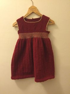 Girls party dress with gold thread