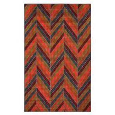 @Overstock - This contemporary indoor/outdoor mat features a bold multicolored herringbone pattern that breathes energy into your space. Made with a soft, mid-grade pile of nylon and olefin, the mat resists mold and mildew due to the marine back.http://www.overstock.com/Home-Garden/Indoor-Outdoor-Herringbone-Multi-Rug-5-x-8/6534817/product.html?CID=214117 $70.54