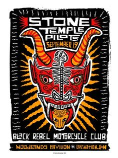 SALE Stone Temple Pilots with Black Rebel Motorcycle Club. $48.00, via Etsy.