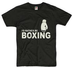 I d Rather be Boxing Men Women Unisex T Shirt Tee Sport Hobby