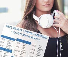 Chinese HSK2 Words + Pinyin + Meaning Complete List (PDF + MP3) Listening Skills, Meant To Be, Singing, Language, Chinese, Pdf, Learning, Words, Studying