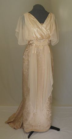 Downton Abbey Edwardian Titanic Wedding Gown Dress by twinBdesigns, $325.00