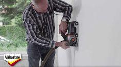Kabels wegwerken in de muur.  Alabastine - Kabels Wegwerken
