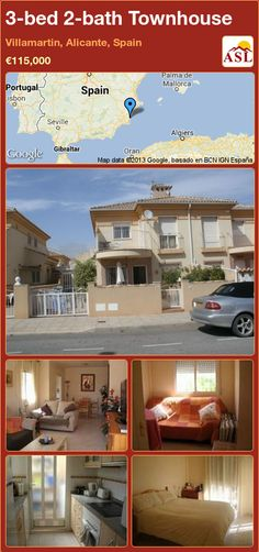 3-bed 2-bath Townhouse in Villamartin, Alicante, Spain ►€115,000 #PropertyForSaleInSpain