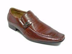 Delli Aldo Men's 18612-Brown Belt Buckle Slip On Loafers, Brown, 9
