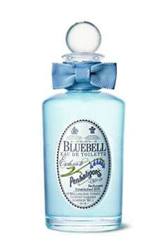 Bluebell Eau de Toilette: Top note is citruses; middle notes are hyacinth, rose, jasmine, cyclamen and lily-of-the-valley; base notes are galbanum, cloves and cinnamon. I Capture The Castle, Fragrance Parfum, Smell Good, Shades Of Blue, Magenta, Pastel Blue, Perfume Bottles, Blue Perfume, Glass Bottles