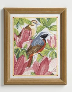 Lesley Teare's flower and bird designs never disappoint, and her redstart and magnolia design for CSC issue 232 is no exception. Get the full kit from www.ilovecrossstitch.co.uk
