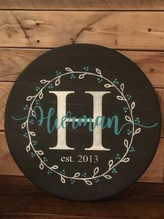 """round 15"""" Family Signs, Sign Design, Stencils, Initials, Decorative Plates, Wreaths, Texture, Birthday, Fabric"""
