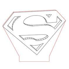 Superman logo 3d illusion lamp plan vector file for CNC - 3bee-studio