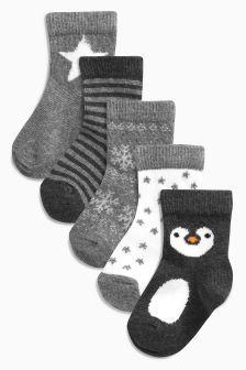 Girls Socks Cotton Rich Socks for Kids Cute Animal Pattern Novelty Ankle Socks Christmas Gift Socks for Toddler Baby Girls 2-11 Years 5 Pairs