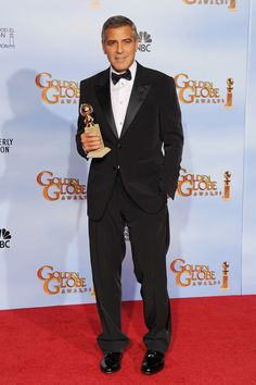 George Clooney at the 2012 Golden Globes  in Giorgio Armani