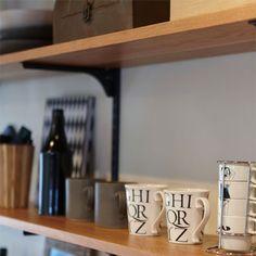 棚柱ダブル ブラック(1本入) | 無垢の木の棚、DIY通販 | 無垢の木のDIYショップ Kitchen, Cooking, Kitchens, Cuisine, Cucina