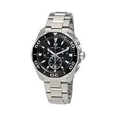 Tag Heuer Aquaracer Chronograph Black Dial Mens Watch CAY111ABA0927 -- Read more reviews of the product by visiting the link on the image.