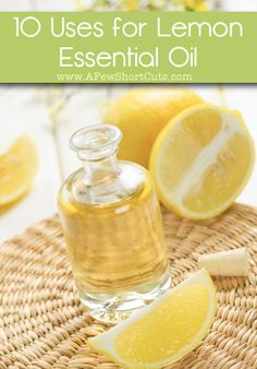 10 Uses for Lemon Essential Oil! So versatile! #natural #essentialoil