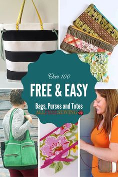 We have so many Free Patterns to Sew Bags and Purses!