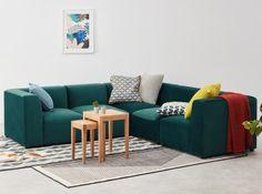 Designer Sofas | Sofa kaufen | MADE.com 5 Seater Corner Sofa, 5 Seater Sofa, Sectional Sofa, Sofa Design, Furniture Design, Blue Velvet Sofa, L Shaped Sofa, Style Deco, Large Sofa